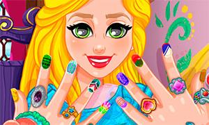 Игры одевалки девочек модный макияж и маникюр